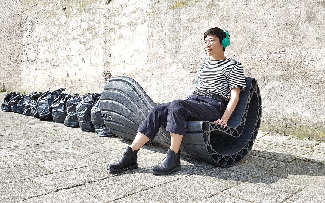 3D printing, urban design products with recycled plastic