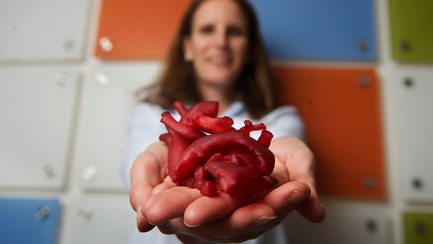 A 3D printed heart that beats