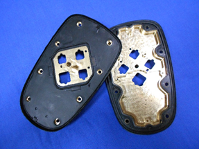 Rubber and metal co-moulded prototype