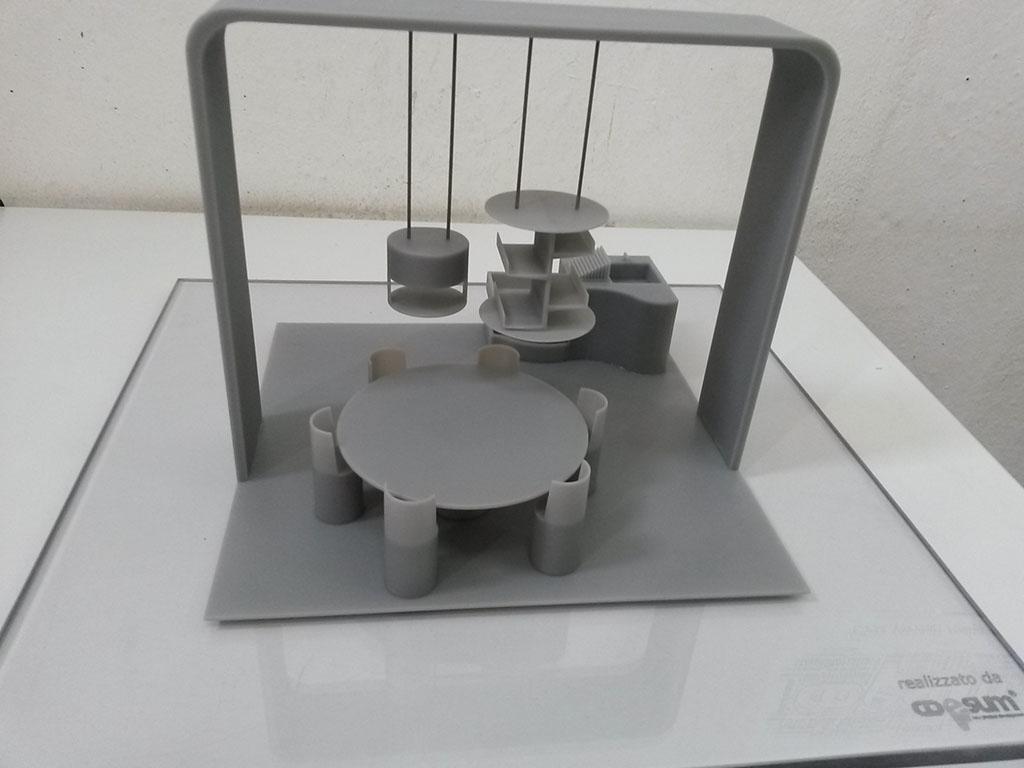 Modello stampa 3d in stereolitografia