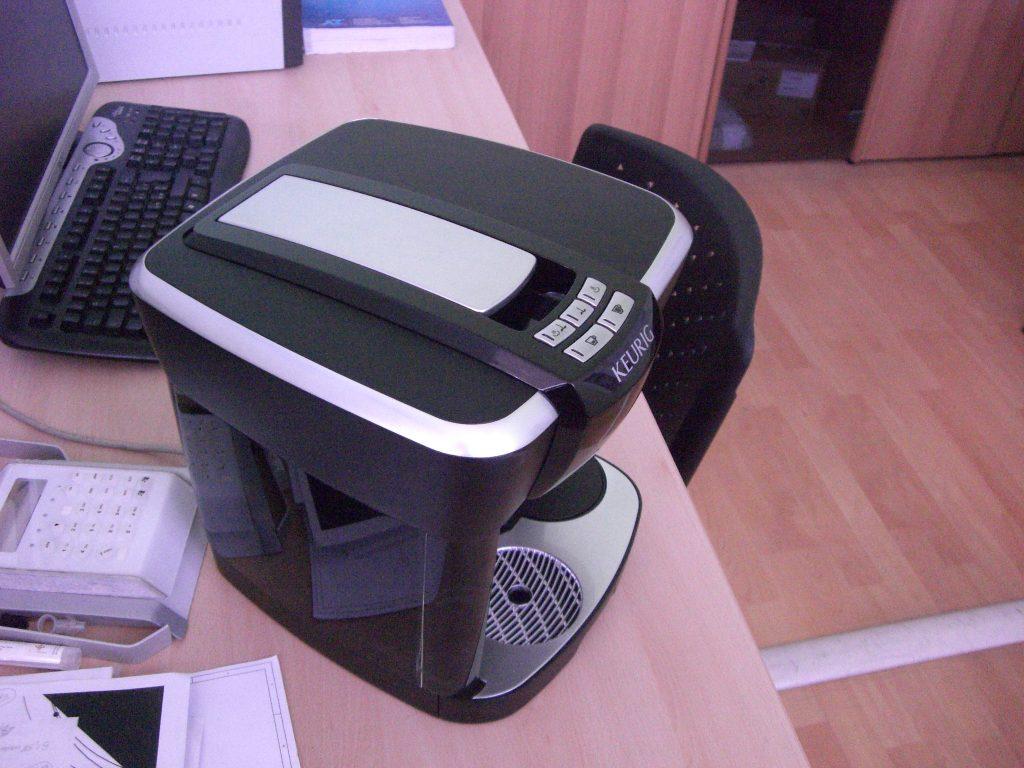 mockup macchina caffè di stampa 3d